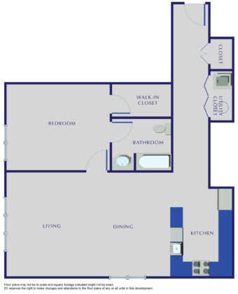 E Residences - Unit X-02 - 1045 Sq. Ft.