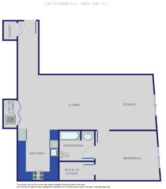 E Residences - Unit X-03 - 1080 Sq. Ft.
