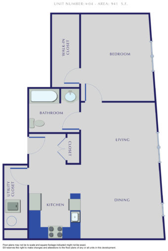 E Residences - Unit X-04 - 941 Sq. Ft.